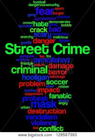 Street Crime, Word Cloud Concept 6