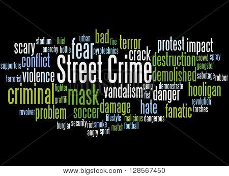 Street Crime, Word Cloud Concept 7