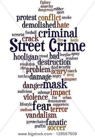 Street Crime, Word Cloud Concept 9