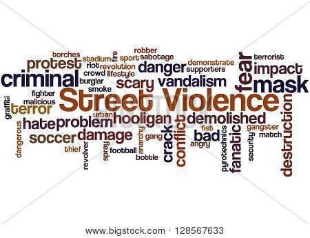 Street Violence, Word Cloud Concept 2