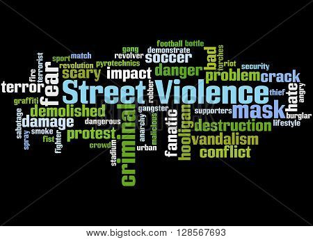 Street Violence, Word Cloud Concept 6