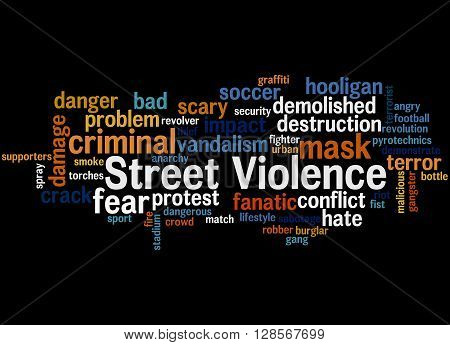 Street Violence, Word Cloud Concept 7