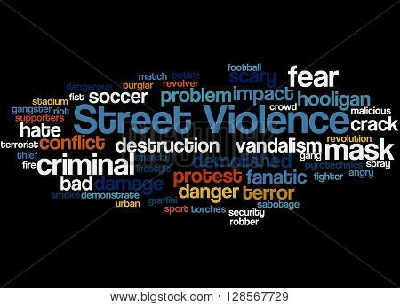 Street Violence, Word Cloud Concept 9