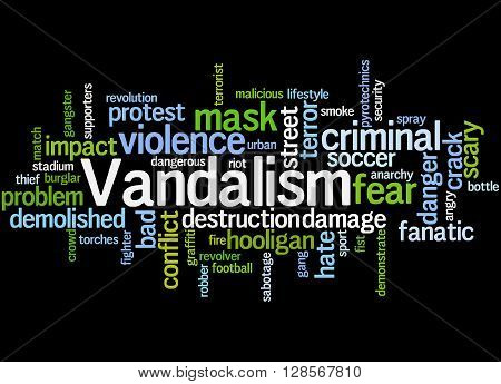 Vandalism, Word Cloud Concept 6