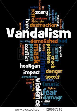 Vandalism, Word Cloud Concept 7