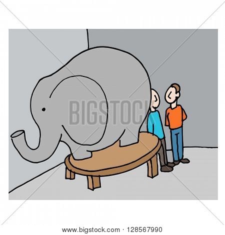 An image of a business meeting elephant in the room.