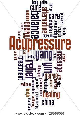 Acupressure, Word Cloud Concept 2