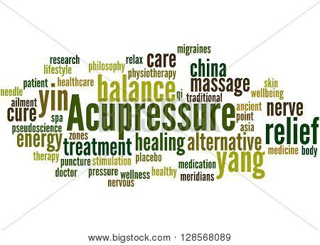 Acupressure, Word Cloud Concept 4