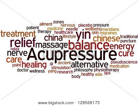 Acupressure, Word Cloud Concept 9