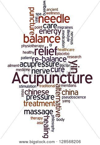 Acupuncture, Word Cloud Concept 2