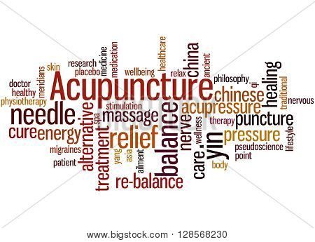 Acupuncture, Word Cloud Concept 4