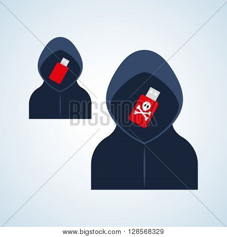 Security concept with icon design, vector illustration 10 eps graphic.