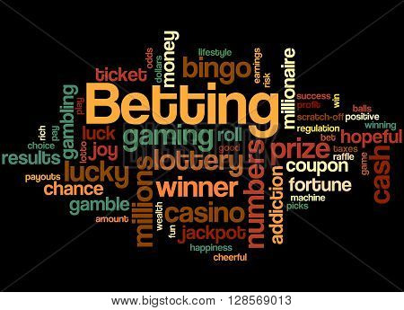 Betting, Word Cloud Concept 8