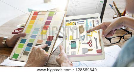 Tools Craftsmen Hobby Repairmen Equipment Concept