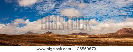 Landscape panorama fuerteventura
