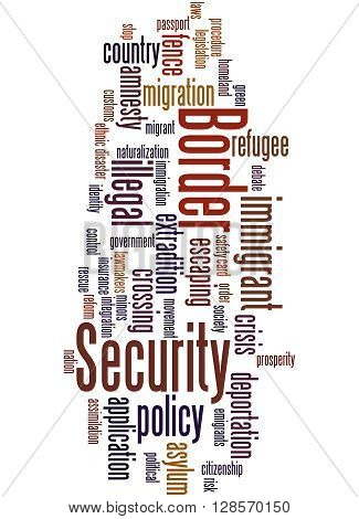 Border Security, Word Cloud Concept 4