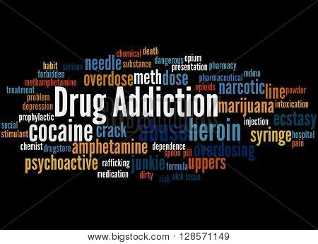 Drug Addiction, Word Cloud Concept 2