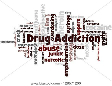 Drug Addiction, Word Cloud Concept 7