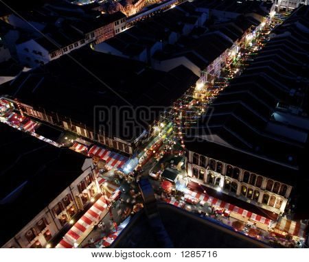Singapore Chinatown Night View