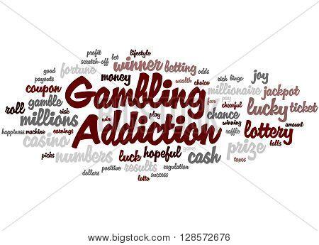 Gambling Addiction, Word Cloud Concept 2