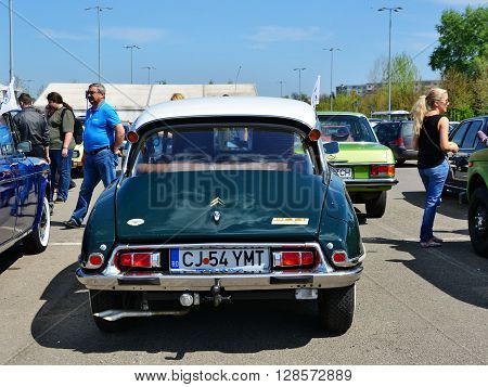 CLUJ-NAPOCA ROMANIA - APRIL 16 2016: 1974 Citroen DS23 Pallas