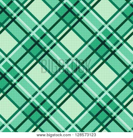 Emerald Hues Seamless Diagonal Pattern