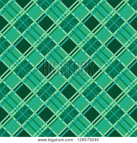 Seamless Diagonal Pattern In Emerald