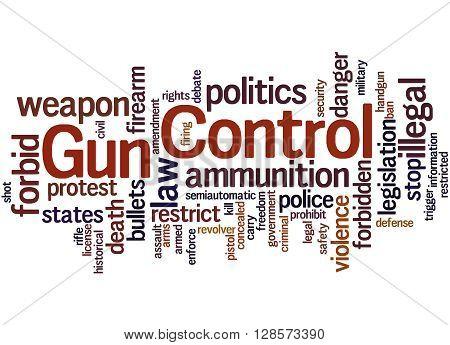 Gun Control, Word Cloud Concept 3