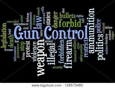 Gun Control, Word Cloud Concept 8