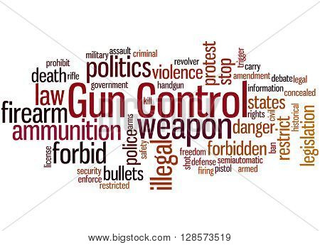 Gun Control, Word Cloud Concept 9