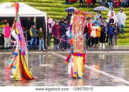 Ingapirca Ecuador - 20 June, 2015: Inti Raymi Festival The Time Of Reunion With The Family The Community And Mother Earth In Ingapirca On June 20, 2015