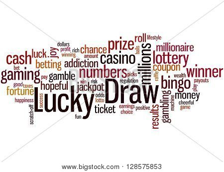 Lucky Draw, Word Cloud Concept 4