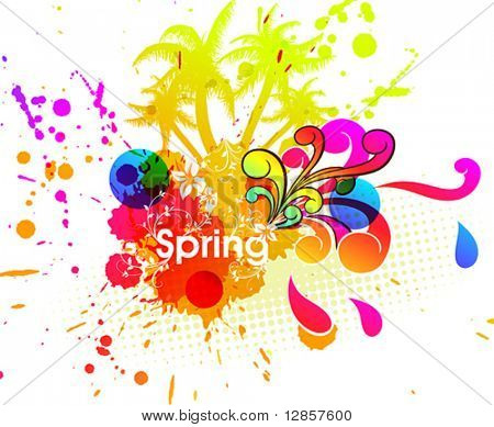 Spring or summer vector illustration