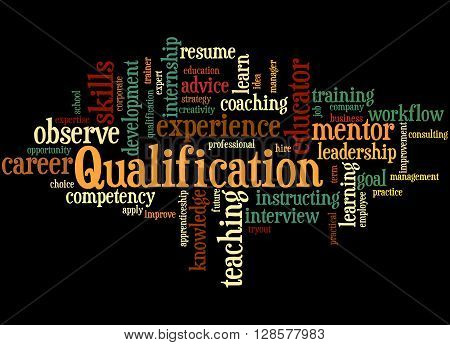 Qualification, Word Cloud Concept 8