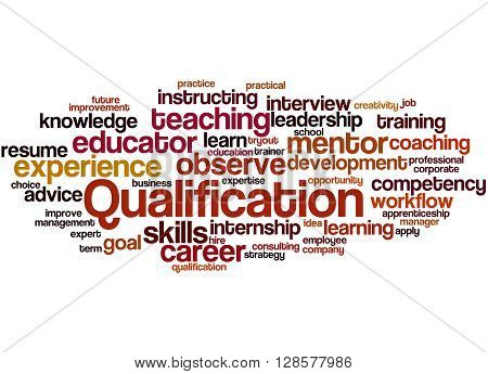 Qualification, Word Cloud Concept 9