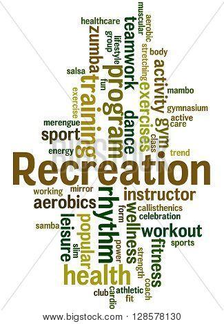 Recreation, Word Cloud Concept 9