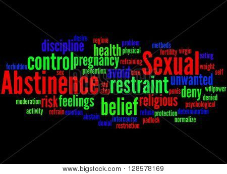 Sexual Abstinence, Word Cloud Concept 3