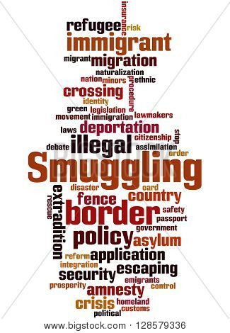 Smuggling, Word Cloud Concept 7