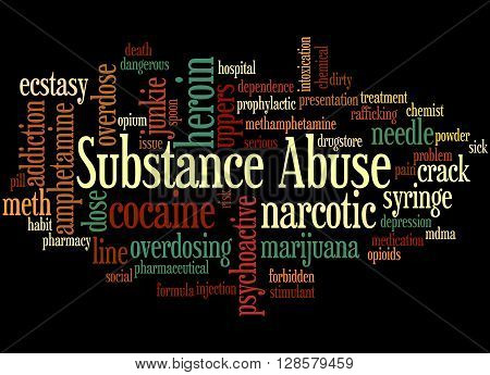 Substance Abuse, Word Cloud Concept 4