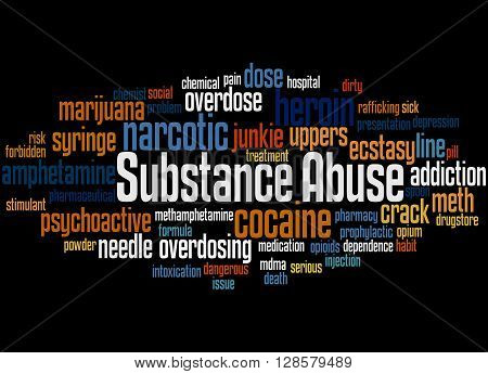 Substance Abuse, Word Cloud Concept 6