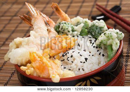 Shrimp Tempura Rice Bowl