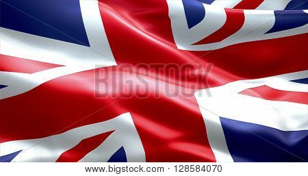 closeup of flag of Union Jack uk england united kingdom flag