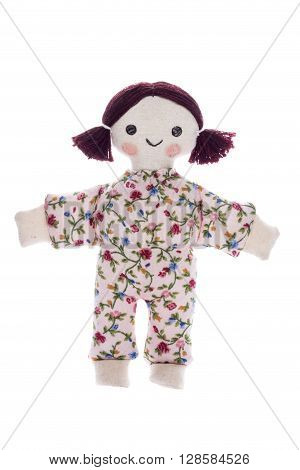 home handicrafts doll on a white background