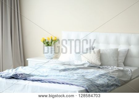 Bright stylish bedroom
