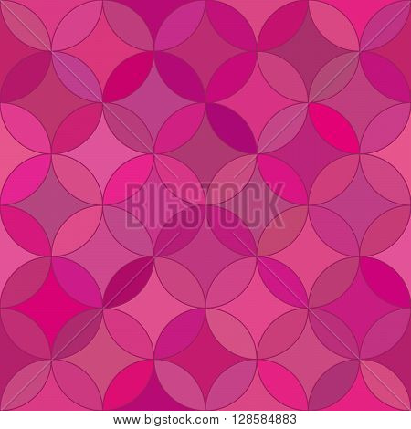 Abstract seamless rosette red pattern. Design element for background, textile, paper packaging, wrapping paper and other. Vector illustration.