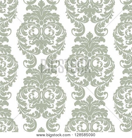 Vector Baroque Luxury Victorian Pattern. Luxury Damask Baroque floral stylish ornament pattern. Pastel beige color