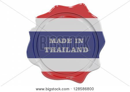 made in Thailand seal stamp. 3D rendering
