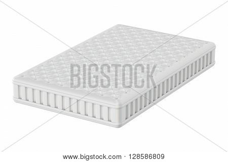Mattress 3D rendering isolated on white background