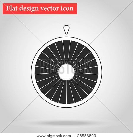 Flat design vector Wheel of fortune icon with shadow vector