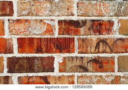 Red stacked wall as a background or backdrop.